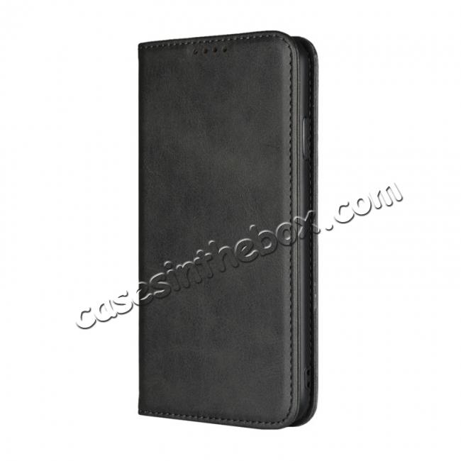 discount For iPhone XS Max Leather Flip Magnetic Wallet Card Stand Case Cover - Black