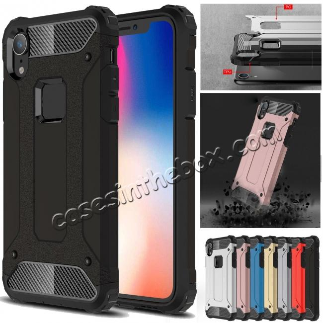 wholesale For iPhone XS Max Shockproof Armor Hybrid Rugged Phone Back Case Cover