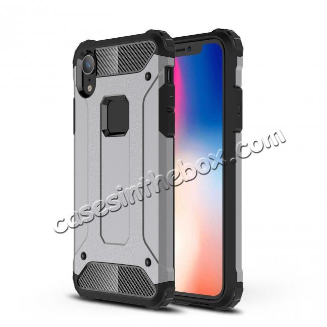 best price For iPhone XS Max Shockproof Armor Hybrid Rugged Phone Back Case Cover