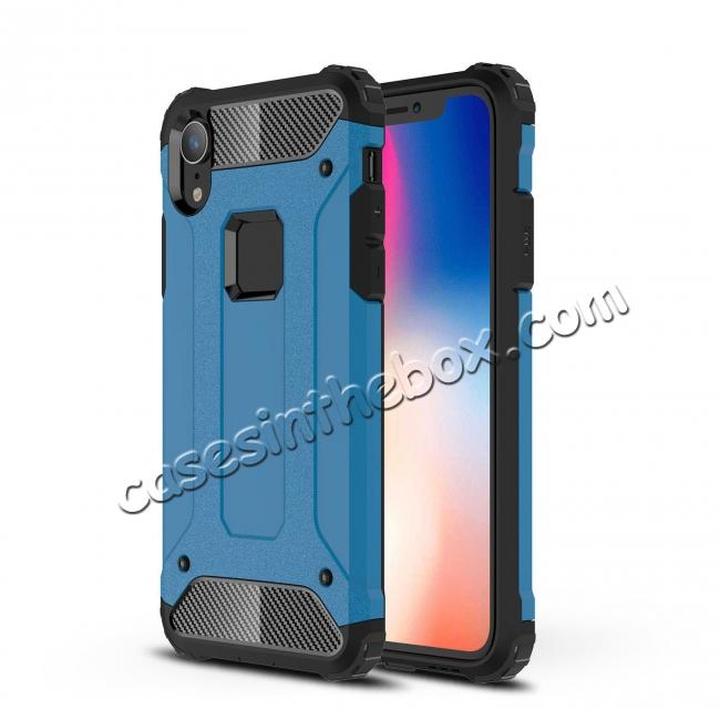 low price For iPhone XS Max Shockproof Armor Hybrid Rugged Phone Back Case Cover