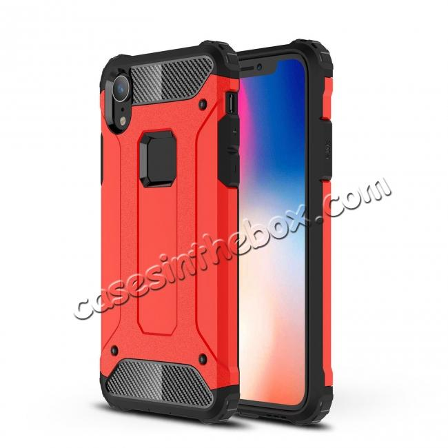 china wholesale For iPhone XS Max Shockproof Armor Hybrid Rugged Phone Back Case Cover