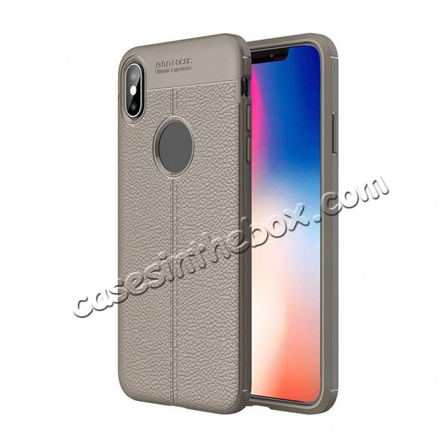 wholesale For iPhone XS Max Flexible TPU Slim Protective Back Cover Case - Grey