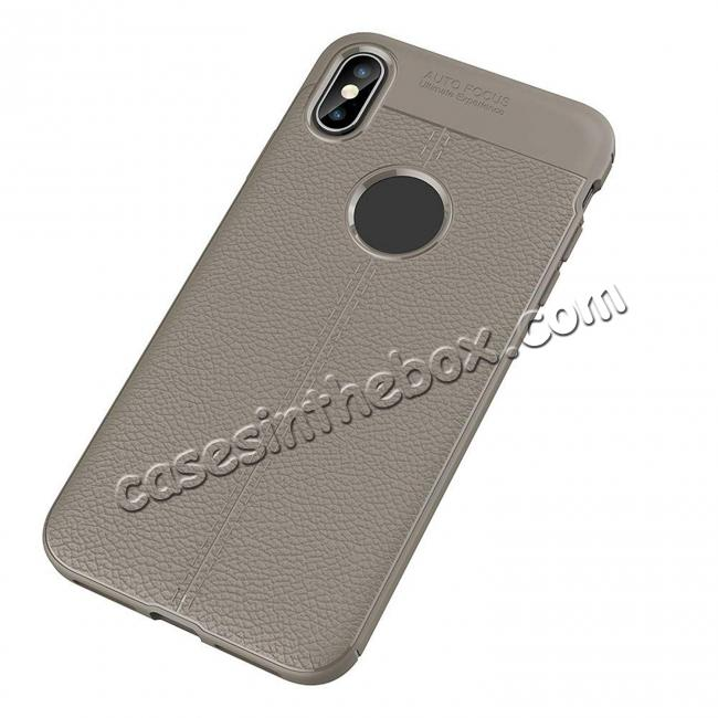 discount For iPhone XS Max Flexible TPU Slim Protective Back Cover Case - Grey