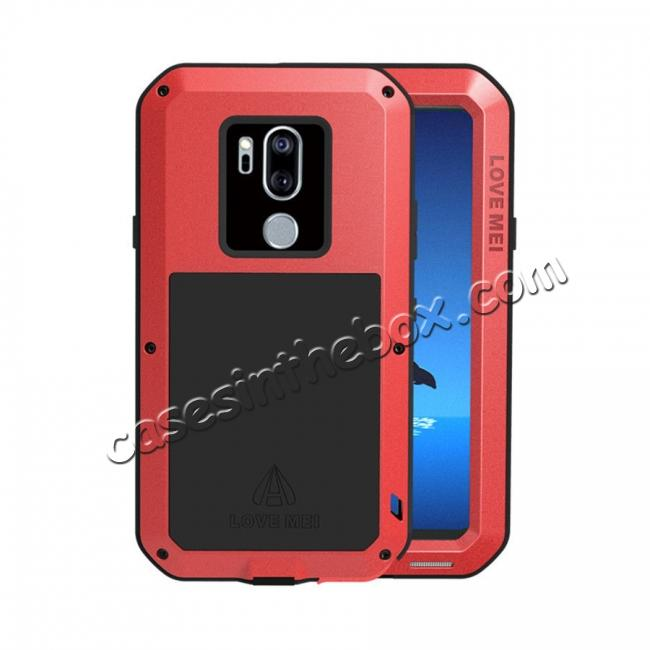 wholesale For LG G7 ThinQ/LG G7 Plus ThinQ Shockproof Metal Cover Silicone Case with Screen Protector