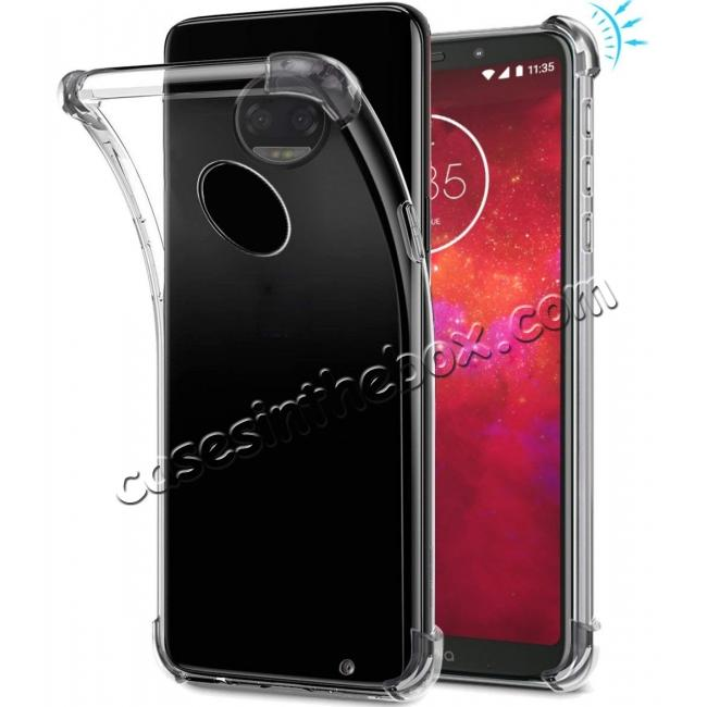 discount For Motorola Moto Z3 Play Airbag Shockproof Clear Silicone Soft TPU Case