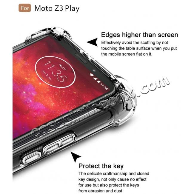 cheap For Motorola Moto Z3 Play Airbag Shockproof Clear Silicone Soft TPU Case