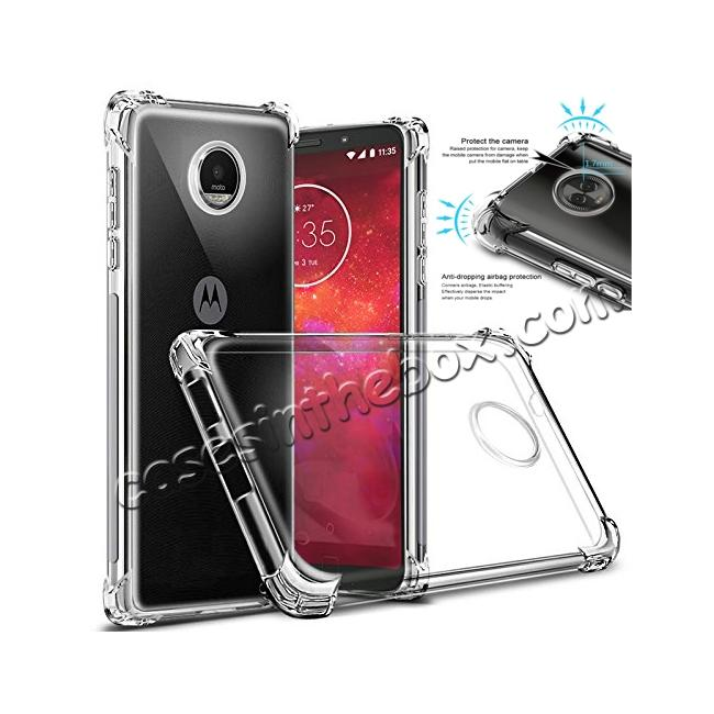 wholesale For Motorola Moto Z3 Play Airbag Shockproof Clear Silicone Soft TPU Case