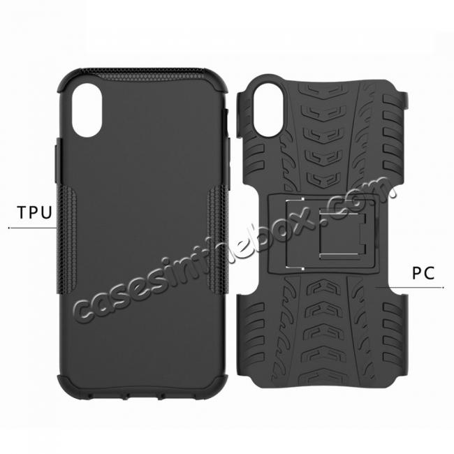 low price Shockproof Hybrid Armor Rugged Hard Rubber Back Case Cover for iPhone Xs Max XR XS