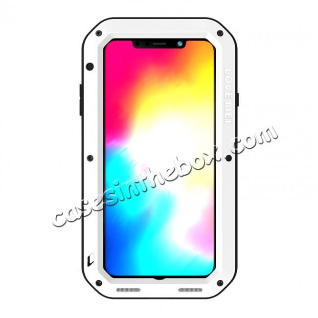 discount Waterproof Shockproof Metal Aluminum Gorilla Case for iPhone XS Max - White