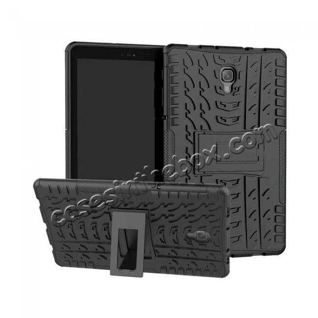 wholesale Dual Layer Protection Shockproof Cover Hybrid Rugged Case with Kickstand for Samsung Galaxy Tab A 10.5 [SM-T590/SM-T595] - Black