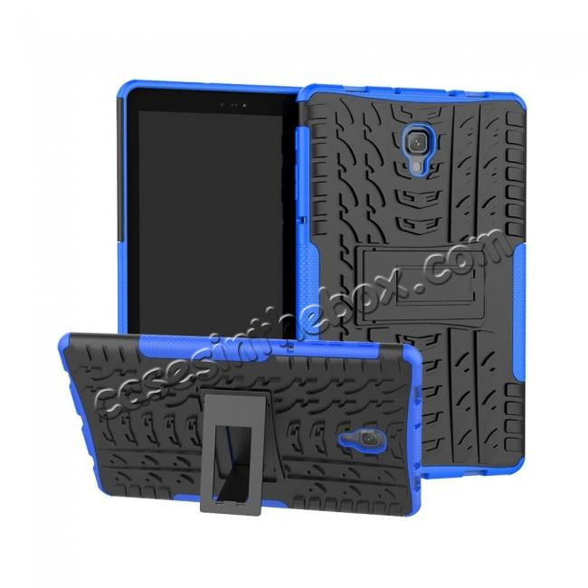 wholesale Dual Layer Protection Shockproof Cover Hybrid Rugged Case with Kickstand for Samsung Galaxy Tab A 10.5 [SM-T590/SM-T595] - Blue