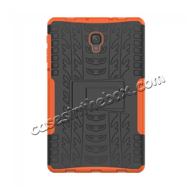 cheap Dual Layer Protection Shockproof Cover Hybrid Rugged Case with Kickstand for Samsung Galaxy Tab A 10.5 [SM-T590/SM-T595] - Orange