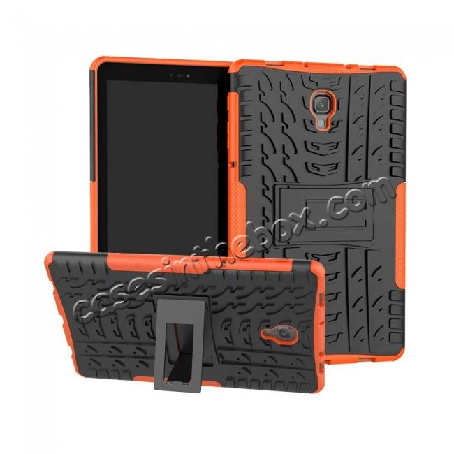 wholesale Dual Layer Protection Shockproof Cover Hybrid Rugged Case with Kickstand for Samsung Galaxy Tab A 10.5 [SM-T590/SM-T595] - Orange