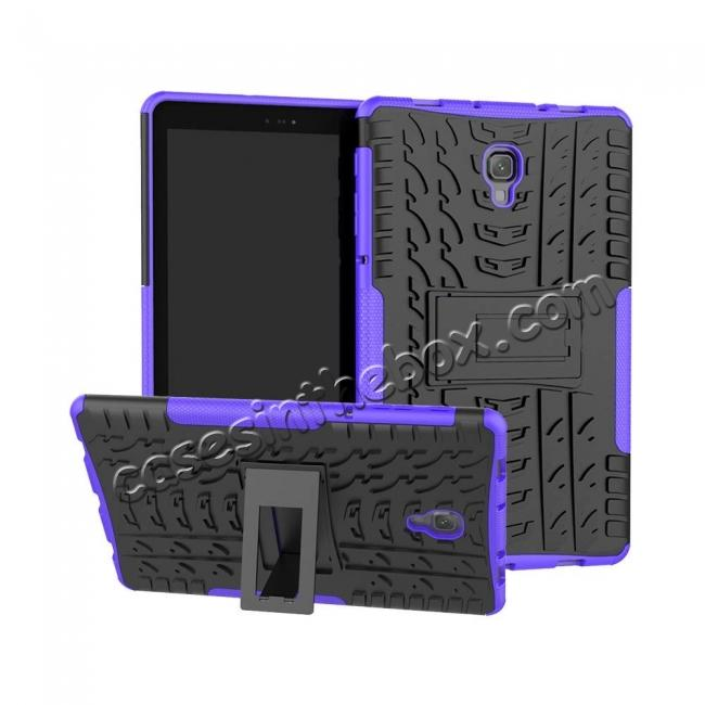 wholesale Dual Layer Protection Shockproof Cover Hybrid Rugged Case with Kickstand for Samsung Galaxy Tab A 10.5 [SM-T590/SM-T595] - Purple