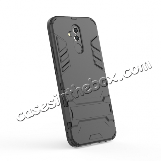 discount For Huawei Mate 20 Lite Shockproof Hybrid Slim Hard Armor Kickstand Case Cover