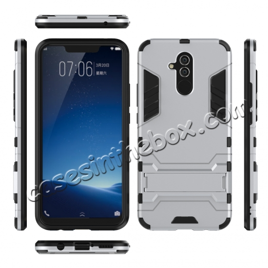top quality For Huawei Mate 20 Lite Shockproof Hybrid Slim Hard Armor Kickstand Case Cover
