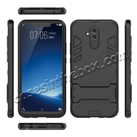 best price For Huawei Mate 20 Lite Shockproof Hybrid Slim Hard Armor Kickstand Case Cover