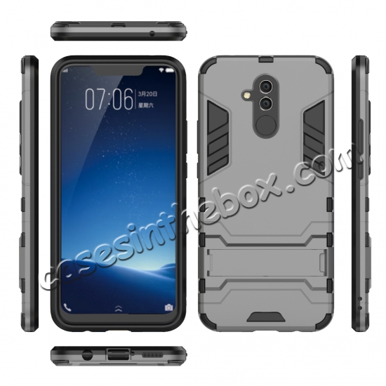 low price For Huawei Mate 20 Lite Shockproof Hybrid Slim Hard Armor Kickstand Case Cover