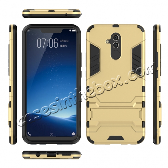 china wholesale For Huawei Mate 20 Lite Shockproof Hybrid Slim Hard Armor Kickstand Case Cover
