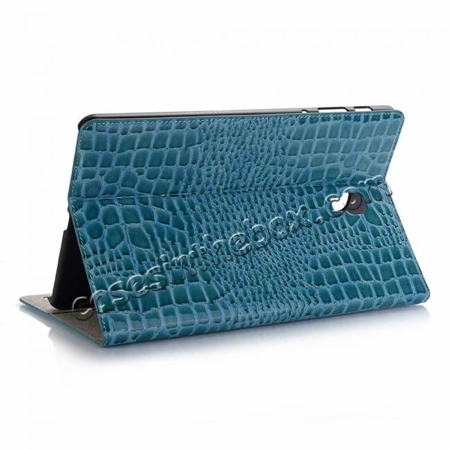 wholesale For Samsung Galaxy Tab A 10.5 T590/T595 2018 Crocodile Pattern Stand Leather Case - Blue