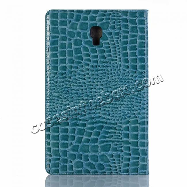 top quality For Samsung Galaxy Tab A 10.5 T590/T595 2018 Crocodile Pattern Stand Leather Case - Blue