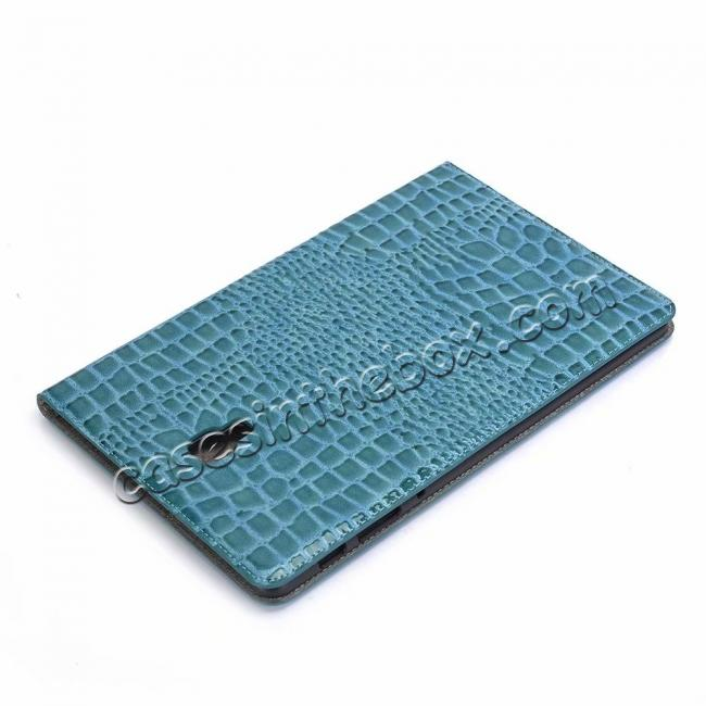 discount For Samsung Galaxy Tab A 10.5 T590/T595 2018 Crocodile Pattern Stand Leather Case - Blue