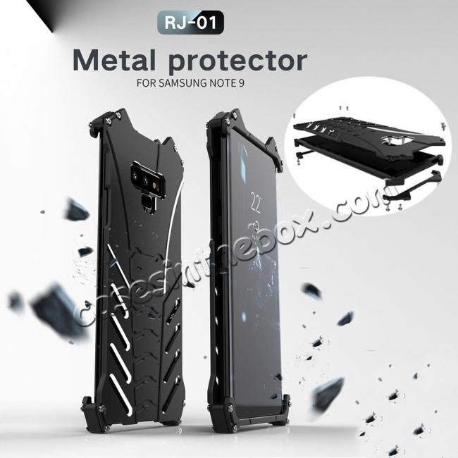 cheap For Samsung Note 9 S9 Plus R-JUST Shockproof Bumper Protective Metal Case Cover