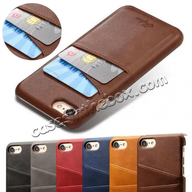 discount Wallet Style 2 Card Slots Leather Case Back Cover for Samsung Galaxy S9 S9 Plus Note 9 / iPhone XS MAX / XR / XS