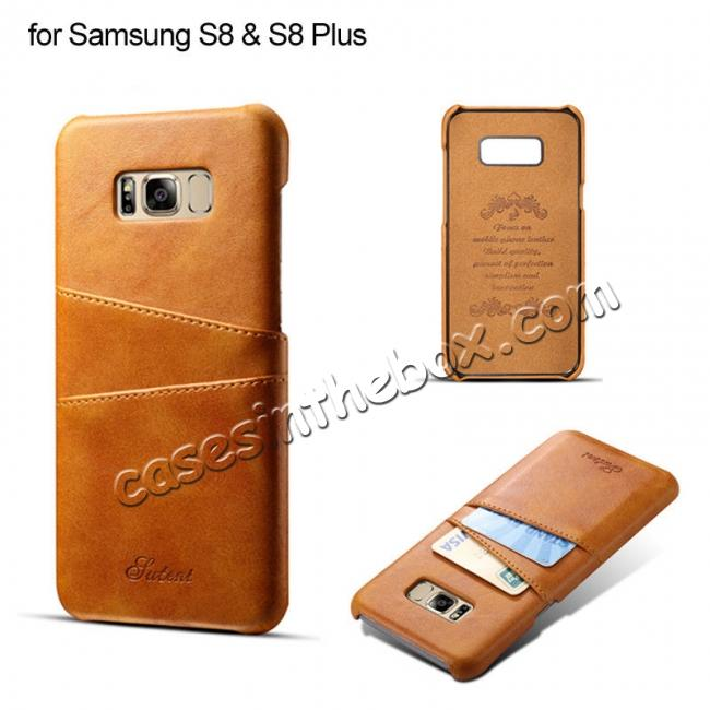 top quality Wallet Style 2 Card Slots Leather Case Back Cover for Samsung Galaxy S9 S9 Plus Note 9 / iPhone XS MAX / XR / XS