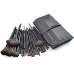 32 PCS Professional Makeup Brush Cosmetic Beauty Make up Brush set+ Black Pouch Bag Leather Case - Black
