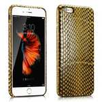 ICARER Genuine Snake Skin Leather Case Cover For iPhone 6 Plus/6S Plus - Yellow