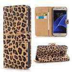 Leopard Print PU Leather Flip Wallet Case for Samsung Galaxy S7 G930