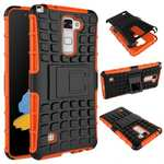 Rugged Armor Dual Layer Hybrid Kickstand Protective Case for LG Stylo 2 PLUS MS550 - Orange
