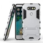 Slim Armor Shockproof Cover Hybrid Kickstand Protective Case for LG V20 - Silver
