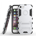Slim Armor Shockproof Kickstand Protective Case for iPhone 7 4.7inch - Silver
