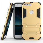 Hybrid Armor Defender Kickstand Protective Cover Case For Google Pixel XL 5.5inch - Gold
