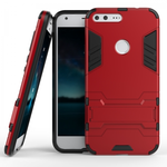 Hybrid Armor Defender Kickstand Protective Cover Case For Google Pixel XL 5.5inch - Red