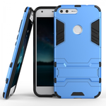 Slim Armor Kickstand Tough Dual Layer Protective Case For Google Pixel 5.0inch - Blue