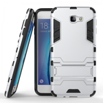 Tough Protective Hybrid Armor Slim Kickstand Cover Case for Samsung Galaxy On5 (2016) - Silver