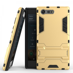 Rugged Armor Shockproof Protective Kickstand Cover Cases for Sony Xperia X Compact - Gold