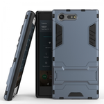 Rugged Armor Shockproof Protective Kickstand Cover Cases for Sony Xperia X Compact - Navy blue