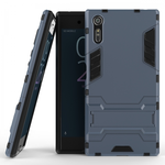Slim Armor Shockproof Hybrid Kickstand Protective Cover Cases For Sony Xperia XZ - Navy blue