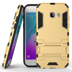 Hybrid Armor Hard Kickstand Protective Cover Case for Samsung Galaxy A5 (2017) - Gold