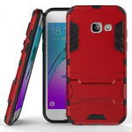 Hybrid Armor Hard Kickstand Protective Cover Case for Samsung Galaxy A5 (2017) - Red