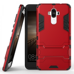 Silm Armor Combo Kickstand Protective Cover Case for Huawei Mate 9 - Red