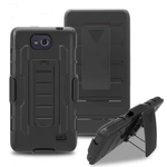 Belt Clip Holster Hybrid Armor Kickstand Phone Cover Case For ZTE Tempo N9131