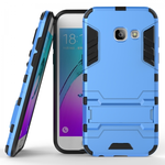 Slim Armor Kickstand Protective Cover Case For Samsung Galaxy J3 (2017) / J3 Emerge  - Blue