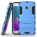 Slim Armor Kickstand Protective Cover Case For Samsung Galaxy J3 (2017) / J3 Emerge  - Blue
