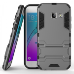 Slim Armor Kickstand Protective Cover Case For Samsung Galaxy J3 (2017) / J3 Emerge  - Gray