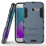 Slim Armor Kickstand Protective Cover Case For Samsung Galaxy J3 (2017) / J3 Emerge  - Navy blue